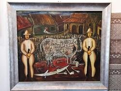 Yendi Tomás Estrada Cancino (Manzanillo, Kuba 1977 - ): A szent tehén c.  olajfestménye