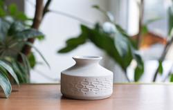 Unterweissbach retro porcelán biszkvit váza - pici német mid century modern váza
