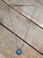 Kézműves izraeli ezüst nyaklánc opál kővel