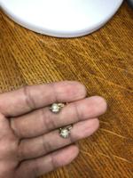Arany gömb fülbevaló cirkóniákkal