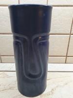 Kék, nagyméretű, kerámia váza  eladó! Szép , különleges váza eladó!