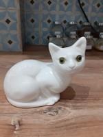 #127, porcelán cica 13cm szeles