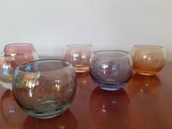 Retro színes pohár készlet likőrös üvegpohár 6 db