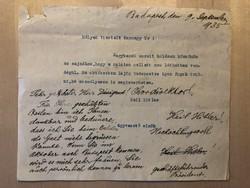 Német Karnagy Úrnak küldött személyes levél 1935-ből