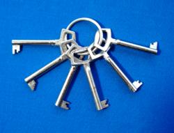 Retro szekrény ajtó és fiók kulcs sorozat (1-6)