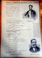 Merevített iskolai táblakép irodalmi oktatáshoz 1904-ből (Szigligeti Ede)