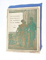 1930-as Francia országos zene- és táncakadémia kis könyv