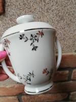 ritka T.L.B Limoges ezüstmintás porcelán tároló 1929-1939