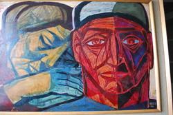 Józsa János festőművész Szüleim portréja