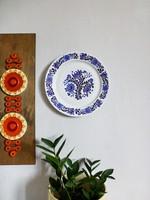 Alföldi falitányér,dísztényér magyaros,népi,virág mintával