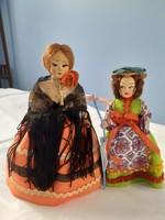 Spanyol és olasz baba autentikus ruhában (19 és 16 cm)