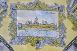 Budapest látképes kendő