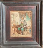 Joseph Urban:1872-1933 Pipázó vadász festmény