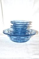 Kék üveg kompótos készlet  ( DBZ 0062 )
