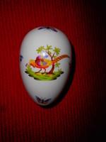 Herendi fácán mintás porcelán tojás 11 cm X 7 cm