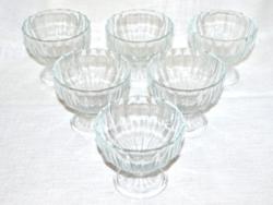6 db fagyis / desszertes üveg kehely  ( DBZ 0036 )