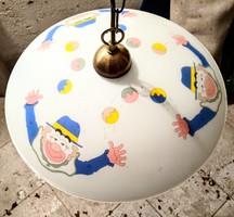 Retró bohócos gyerekszoba lámpa függőlámpa