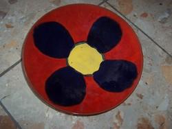 Virágos retro falitányér
