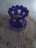 Éj kék kristályváza
