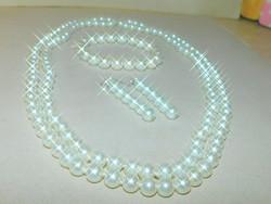 Törtfehér Shell Pearl Gyöngy Ékszer Szett
