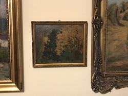 101éves festmény..Nagy Dániel-Zugligeti részlet