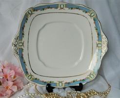 Közel 100 éves Royal Albert tál, kínáló fehér kék