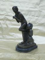 Antik bronz női akt. 45 cm.
