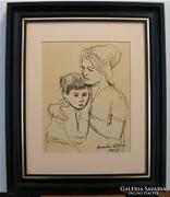 ARATÓ ZOLTÁN  Anya gyermekével  1964. HETI akció5
