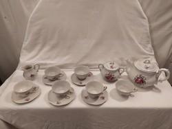 Zsolnay barokk teás készlet