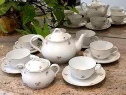 Meisseni 6 személyes finom porcelán teás készlet