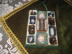 Zsolnay pirogranit falidísz 10 x 11  cm