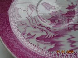 1880 Pink Willow (fűzfa) Viktoriánus Keleti mintával,kézzel számozott Copeland tányér