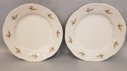 Zsolnay lila barackvirág mintás kis tányér