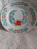 Hollóházi kézzel festett retro fali tányér 24 cm