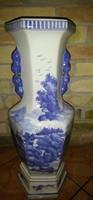 Kék fehér kínai padlóváza