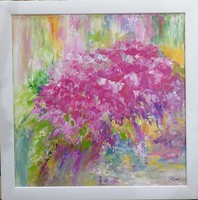 Abstract flowering painting, unique, original artwork! Signed, direct from the artist!