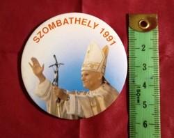 1991  II János Pál Pápa  emlék plakett