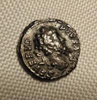 Septimius Severus on lion, PIVSAVG INDVLGENTIA, potin, RIC266