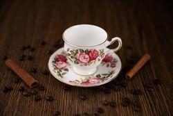 Queen Anne angol porcelán csésze alátét tányérral