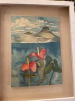 Csák Máté akvarell doboz- keret