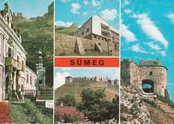 Retro képeslap, Sümeg, városképek