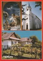 Képeslap, Terény, Evangélikus templom és a Szőlősor