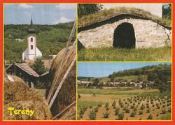 Képeslap, Terény, Római katolikus templom és a Szőlősor