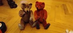 Mici és Maci Mackó teddy bear, színes vidám mackók .Szalmàs mackók, keze làba feje mozgatható.
