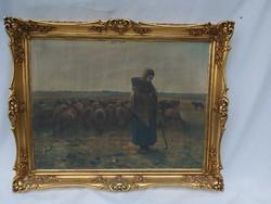 Antik da G. F. Miller festmény külföldi hagyatékból.