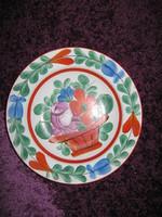 Régi, Kalocsai porcelán tányér 22,5 cm /88/