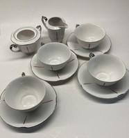 Drasche porcelán teáskészlet, antik, 1930-as/40-es évekből