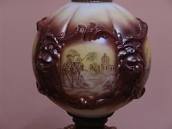 Egyedi kialakítáú porcelán petróleum lámpa ritkaság Amerikából