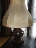 Antik kézműves bőr lámpa