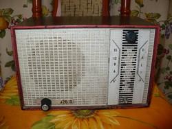Retro régi ritka Elektroncsöves lámpás VIDEOTON DÁLIA R926A bakelit dobozos asztali rádió VIDEÓ
